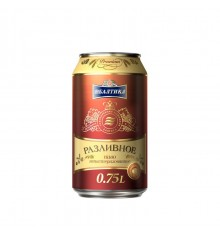 BALTIKA DRAFT Razlivnoe CAN 0.75 L