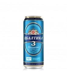 Beer Baltika no. 3 0.5lt CAN (Classic Beer)